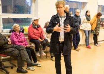Nauha ry:n puheenjohtaja Lasse Salmi sai selitellä sitä, miksi tilaisuudesta tiedottaminen oli epäonnistunut pahoin.