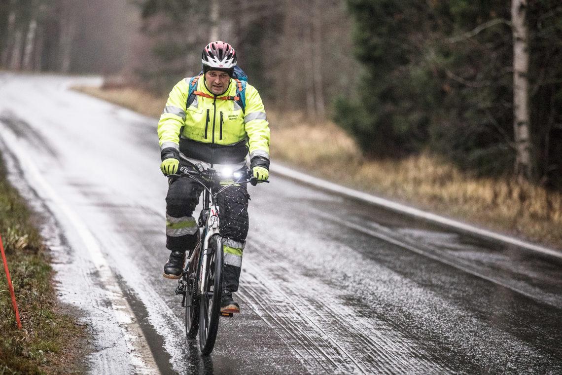 Matka Vammalan keskustasta Sammaljoelle kestää alle tunnin, kun keskimääräinen tuntinopeus pysyy yli 22 kilometrissä.