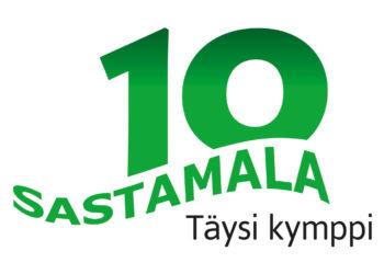 Kaupungin juhlavuoden logo.