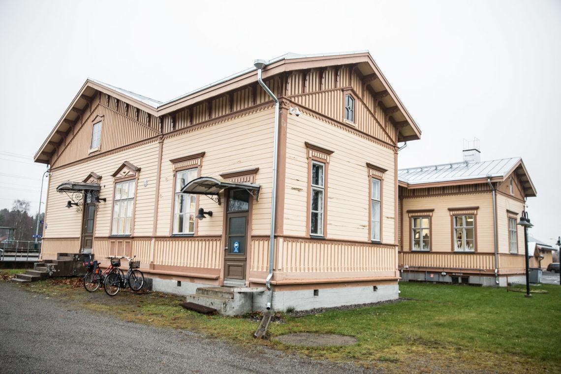Vammalan rautatieasema otettiin käyttöön jo 1800-luvun lopulla.