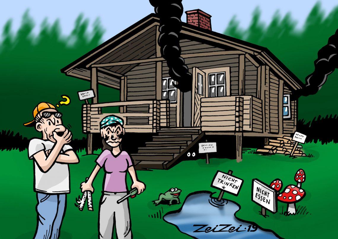 Suurkaupunkien asukkaat etsivät Suomesta rauhaa. Valitettavasti luonnossa tai edes mökillä selviytymisen taidot eivät kaikilla enää ole tallella.