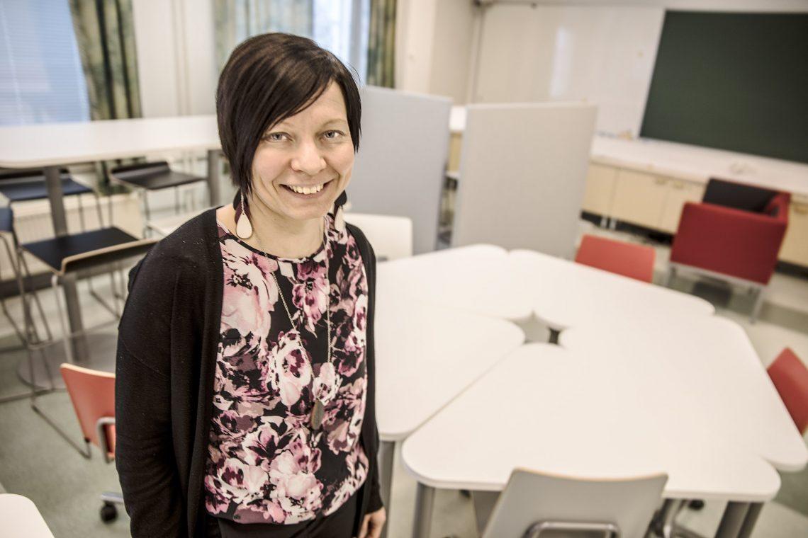Lukion rehtori Leeni Kirvesmäki.