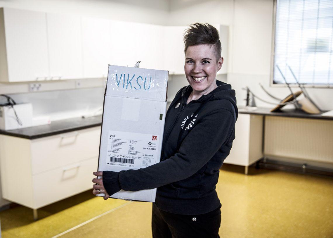Eläinlääkäri ja yrittäjä Suvi Linkohaka odottaa innolla uusien tilojen ottamista käyttöön.