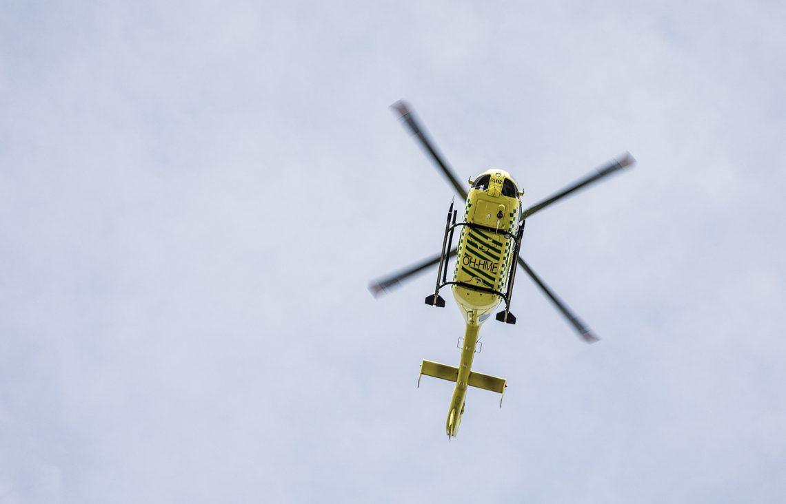 Onnettomuuspaikalle hälytettiin lääkärikopteri Tampereelta.