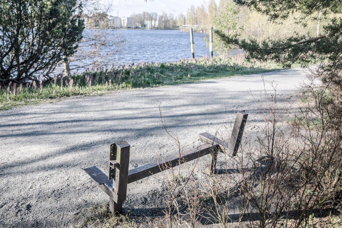 Penkin runko Rautaveden rannalla.