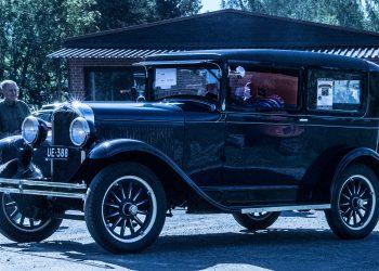 Tämä auto on jo äänielokuvien ajalta. Aihekuva on viime lauantailta Suodenniemeltä.
