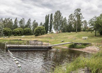 Patsaspuiston uimaranta.