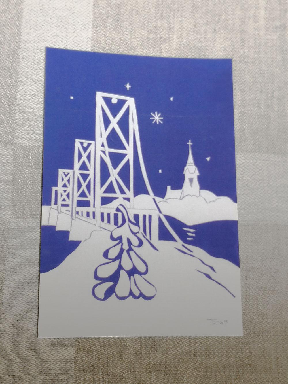 Keikyän perikunta on teettänyt joulukortteja taiteilija Teuvo Talan vuonna 1969 maalaamasta taulusta. Kalliiksi kortteja ei voi moittia, kymmenellä eurolla saa kymmenen korttia.