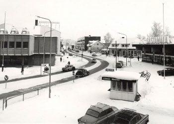 Kioski Puistokadun varrella vuonna 1970. Kuva: Sastamalan seudun museo.