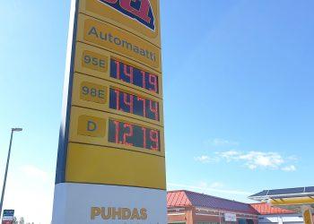Mikäli ei ole ihan pakko, kierrä polttoaineasema keskiviikkona kauempaa ja tankkaa edullisemmin alkuviikolla. Kuva on viime heinäkuulta, jolloin hinnat olivat tuntuvasti nykyisiä edullisempia. Kuva: Jari Heinonen.